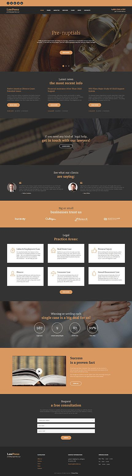 Lawyers  Legal Help Site Wordpress Template Themes Business