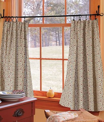 Cafe Curtains For The Large Window In Dining Room Like Rod Holders Instead Of Tension