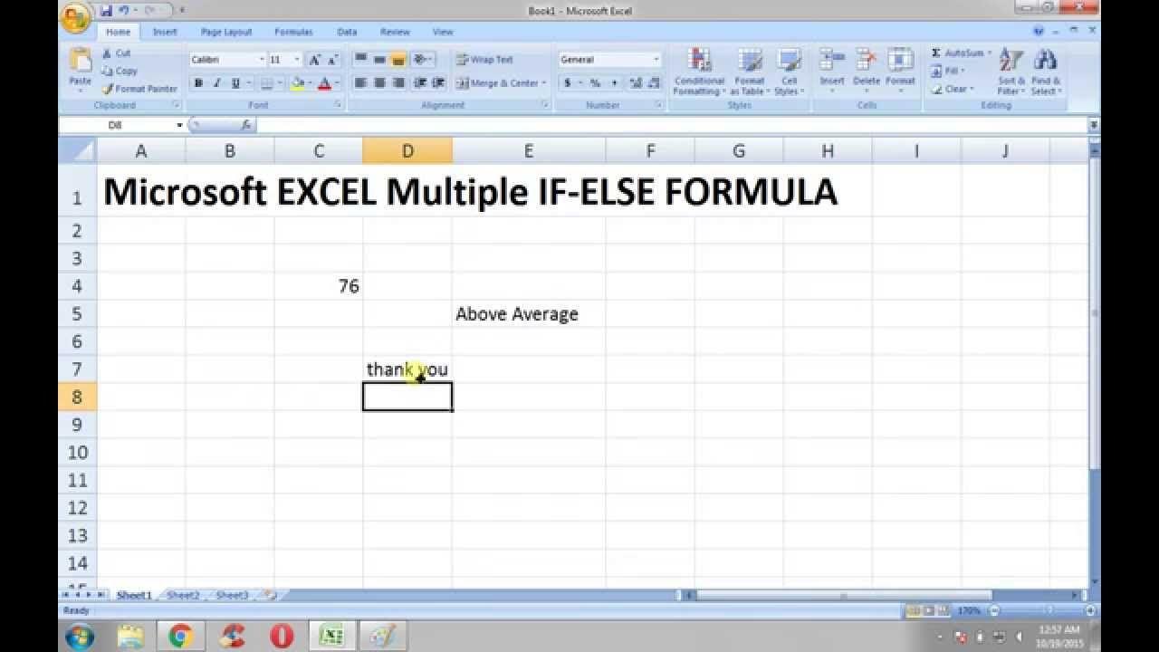 Ms Excel Tutorials Multiple If Else Formula In Microsoft Excel Excel Tutorials Microsoft Excel Tutorial Microsoft Excel Chart wizard icon spreadsheet