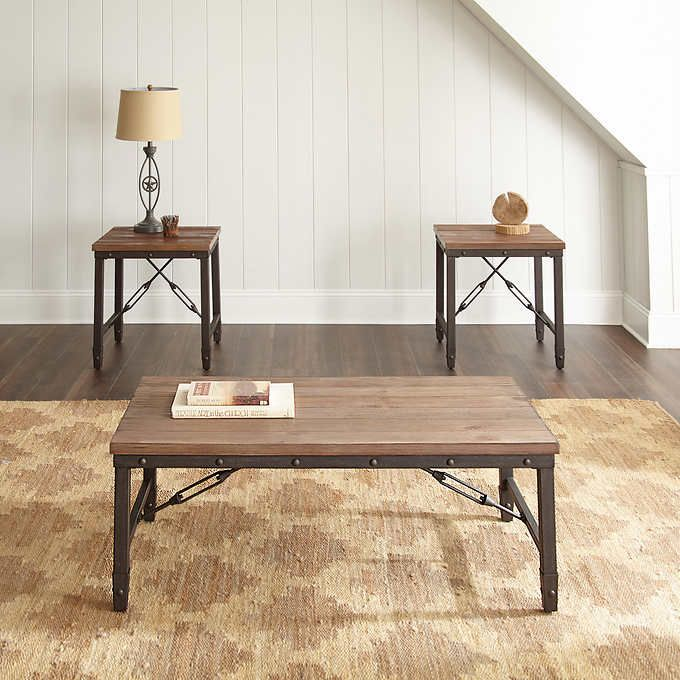 Colton 3 Piece Occasional Table Set Coffee Table Occasional