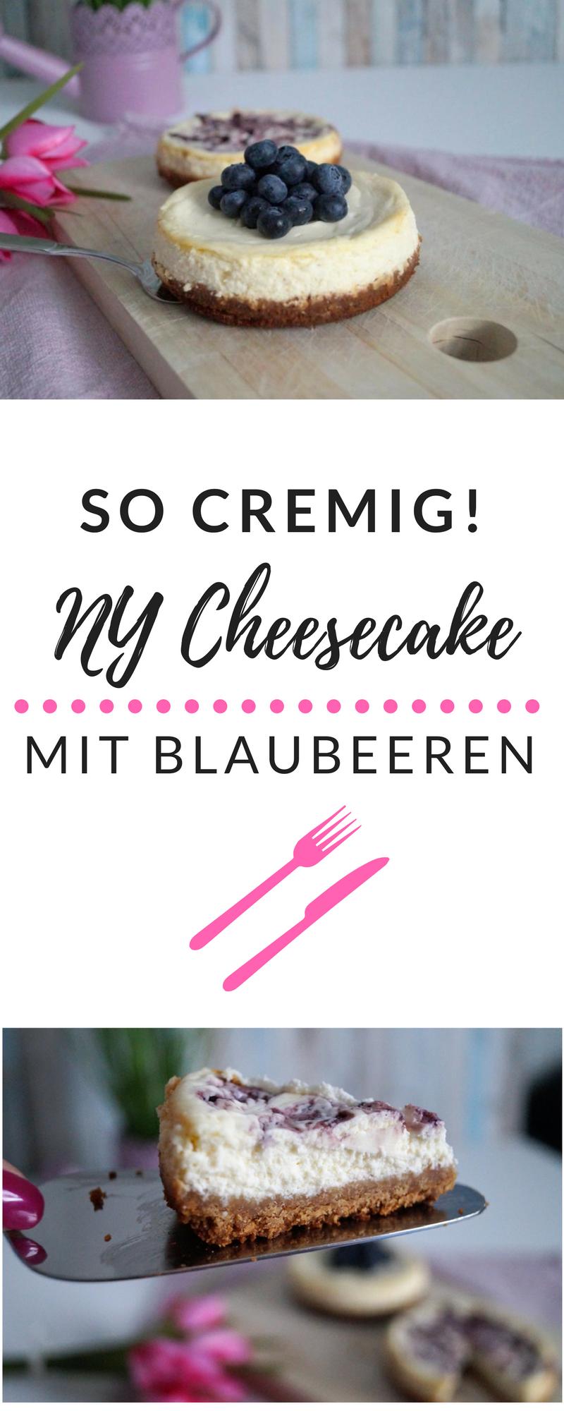 Blueberry Ny Cheesecake So Cremig Kuchen Und Torten Kuchen Mit Frischkase Und Kasekuchen Einfach