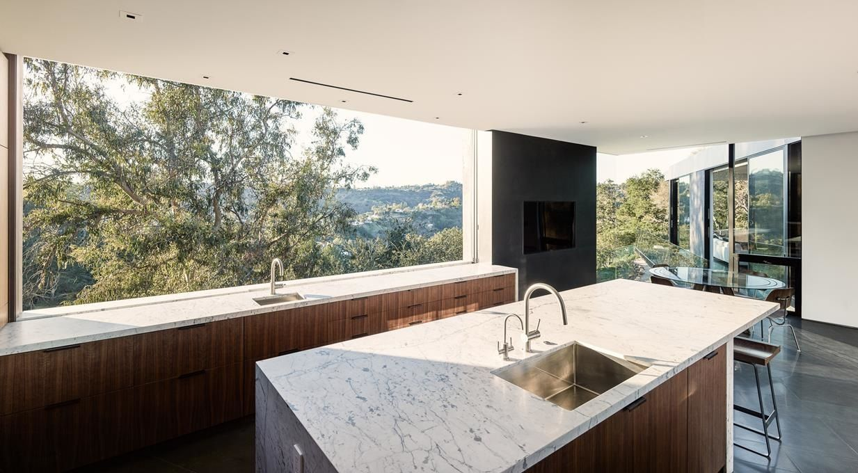 Projeto De Interiores Na Calif Rnia House Hollywood Hills And