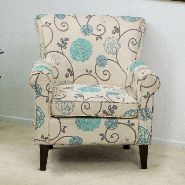 Great Deal Furniture U2014 Roseville Blue Floral Club Chair