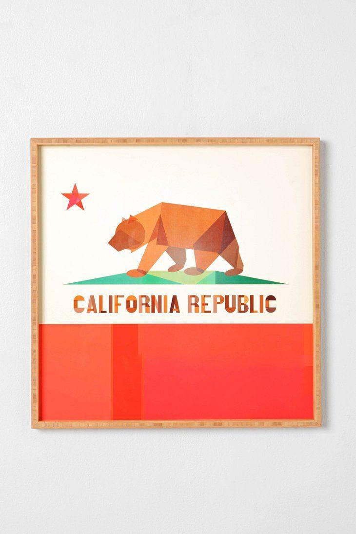 Fimbis For DENY California Framed Wall Art