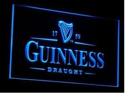 Guinness draught beer pub vintage gift home bar decor led light guinness draught beer pub vintage gift home bar decor led light sign neon aloadofball Gallery