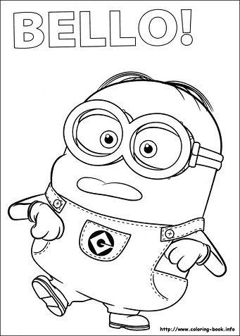 Dibujos De Los Minions Para Colorear Minions Dibujos Libro De