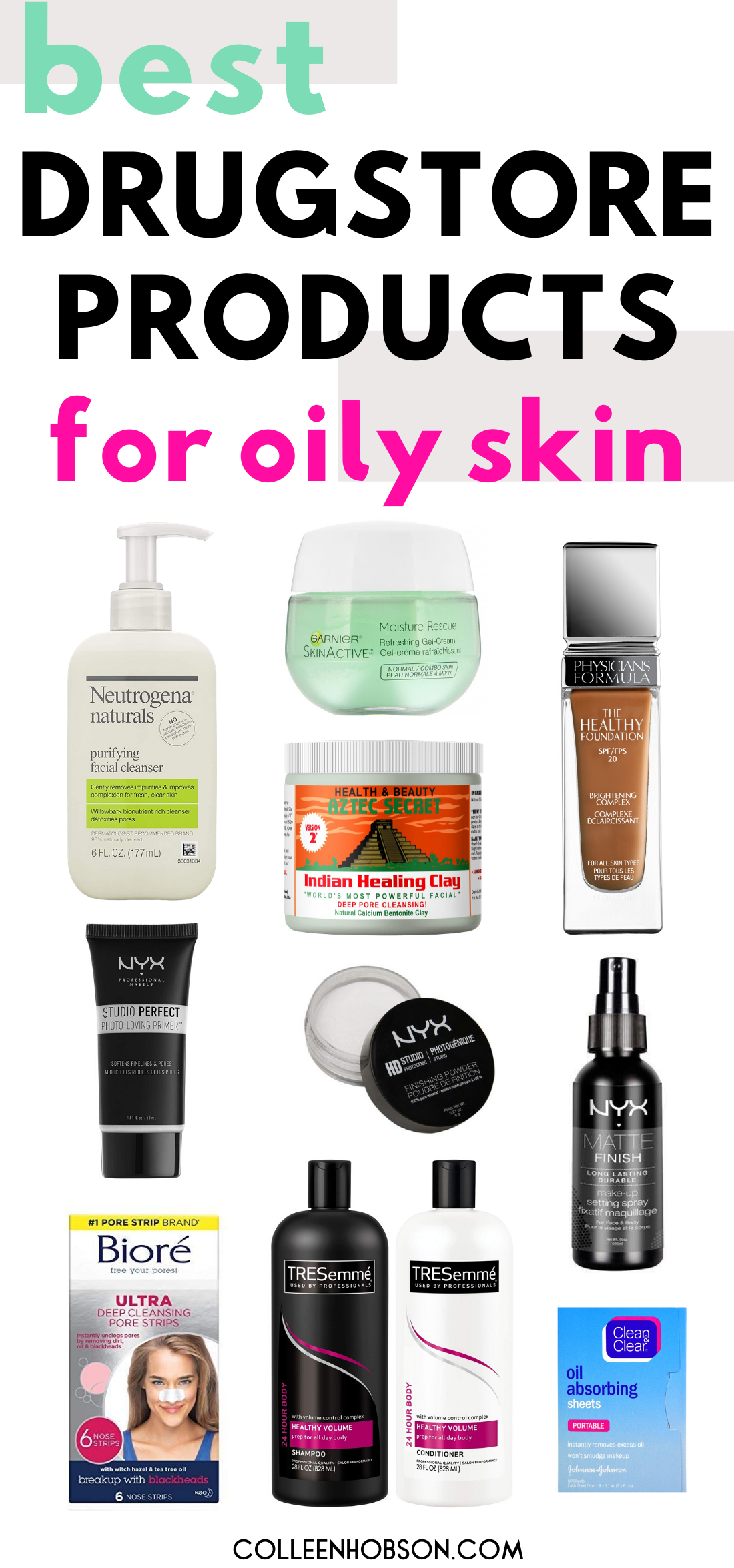 The Best Drugstore Beauty Products For Oily Skin In 2020 Beauty Products For Oily Skin Control Oily Skin Beauty Products Drugstore