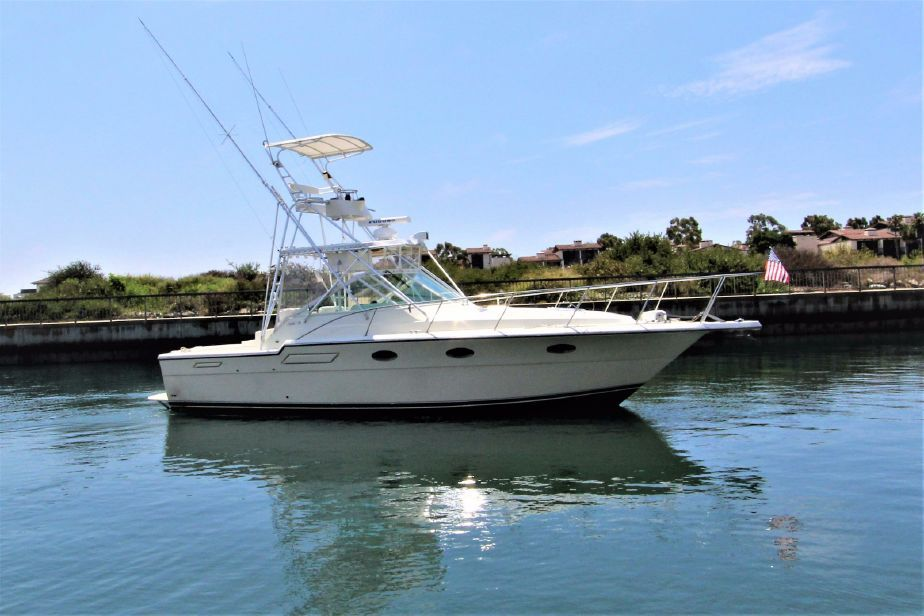 1991 33' Tiara with tuna tower for sale in Long Beach, CA