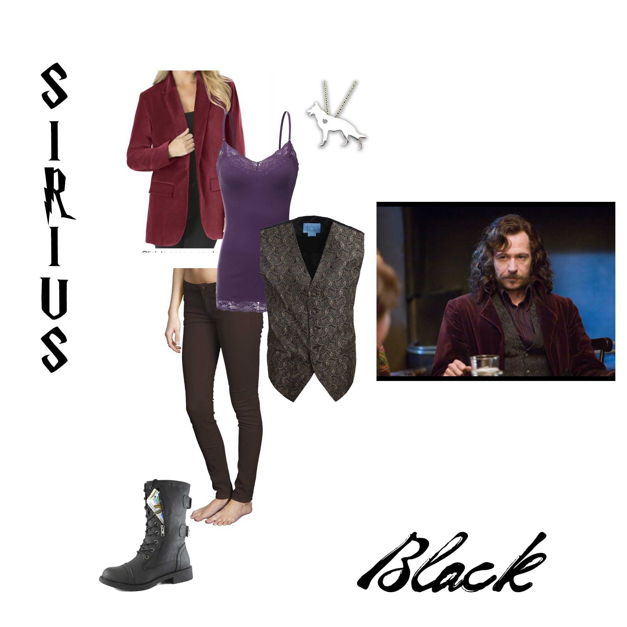 Sirius Black Cosplay/Costume for an adult woman for #Conjuration Under $100.