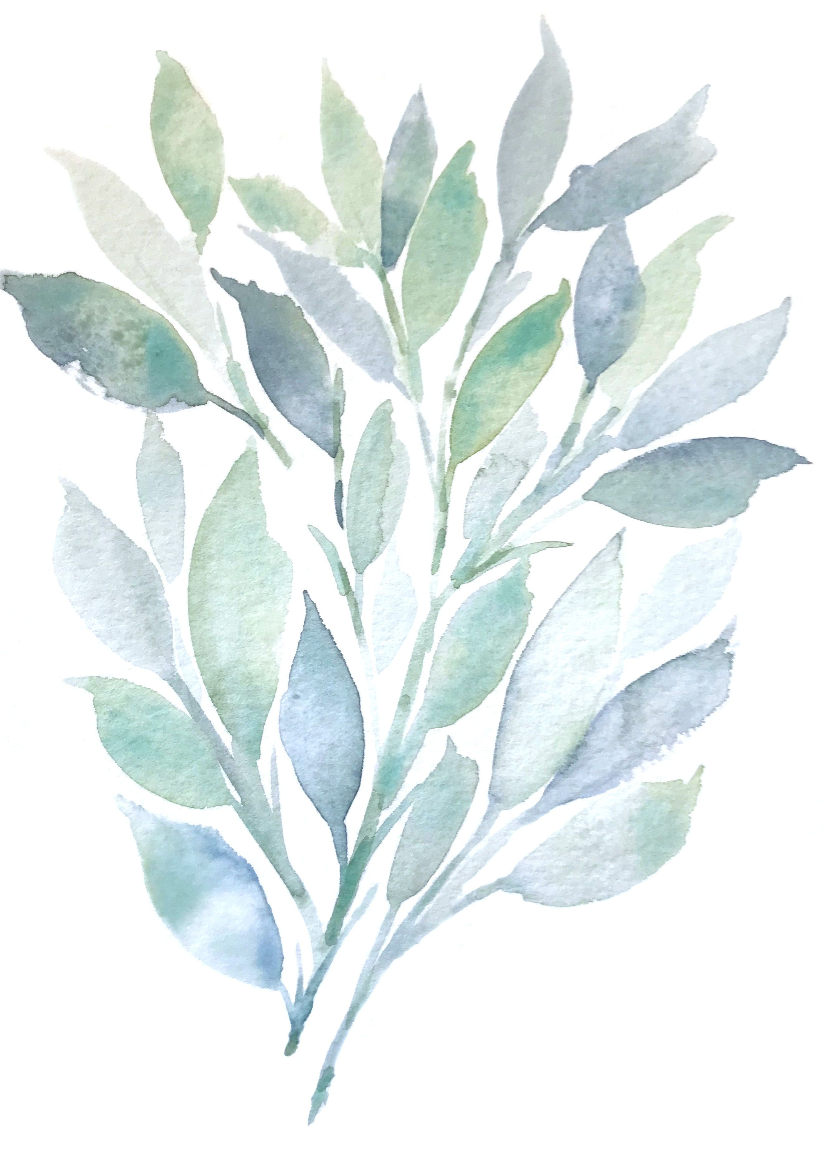 Spring Leaves Asara Design Watercolor Art Watercolour