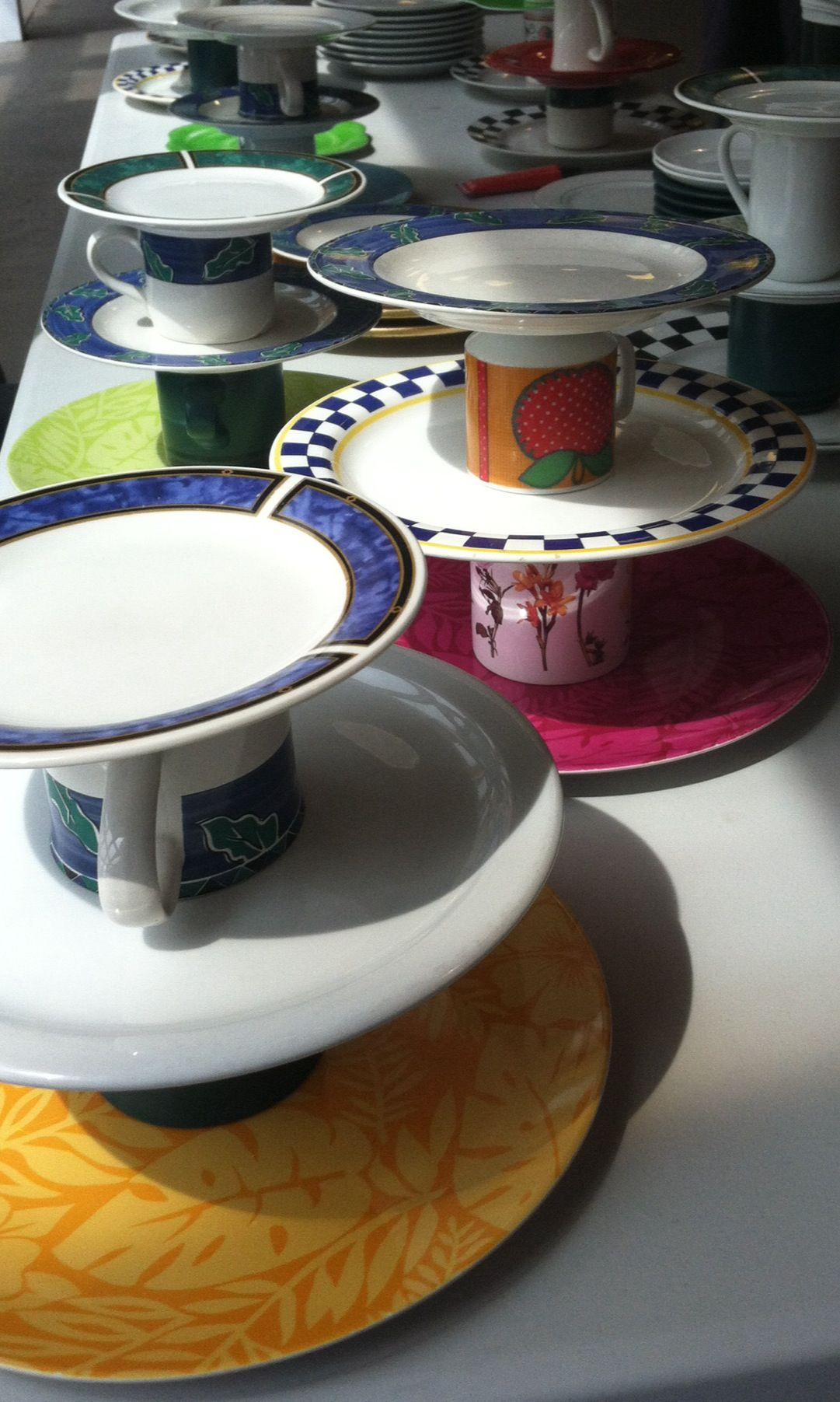 Repurposing plates and cups from our second hand store. Tea sandwich ...