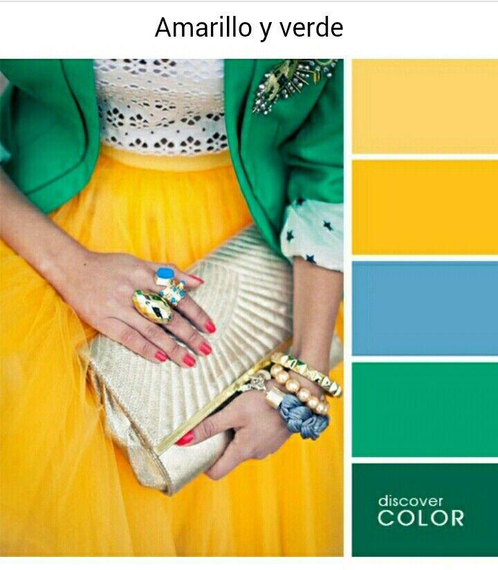 Amarillo Y Verde Combinacion Colores Ropa Como Combinar Colores Ropa Combinaciones De Colores De Moda