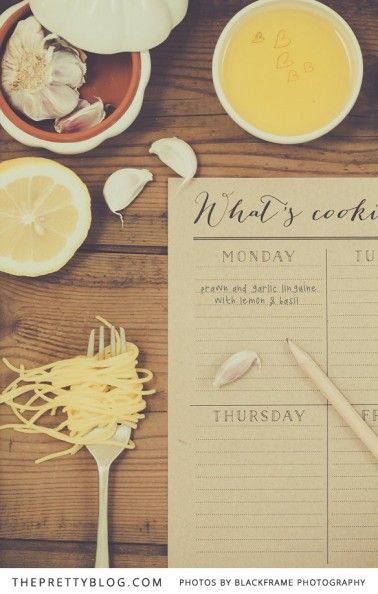 Meal planner- What's cooking good looking | Stationery: @Elephantshoe , Photo: Blackframe Photography
