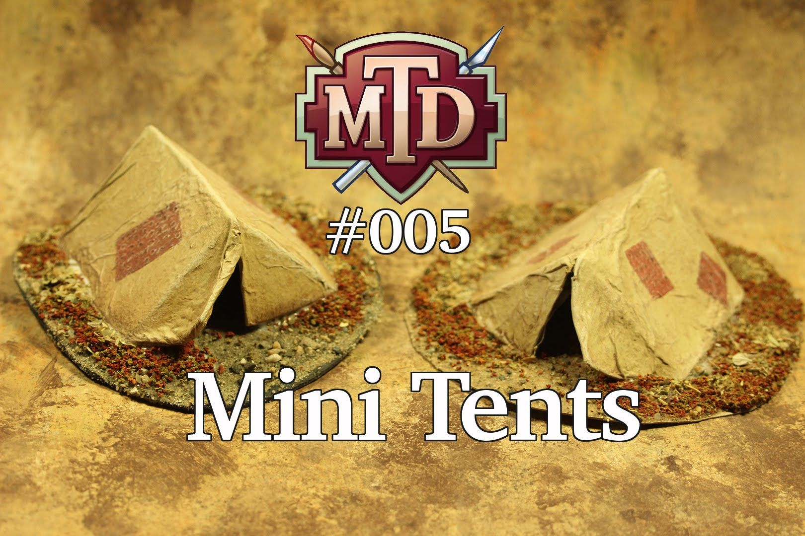 In this tutorial, I show you how to make simple miniature tents for