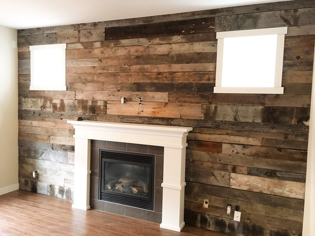 His Her Home Reclaimed Wood Feature Wall Barnwood Reclaimedwood Featurewall Woodfeaturewall