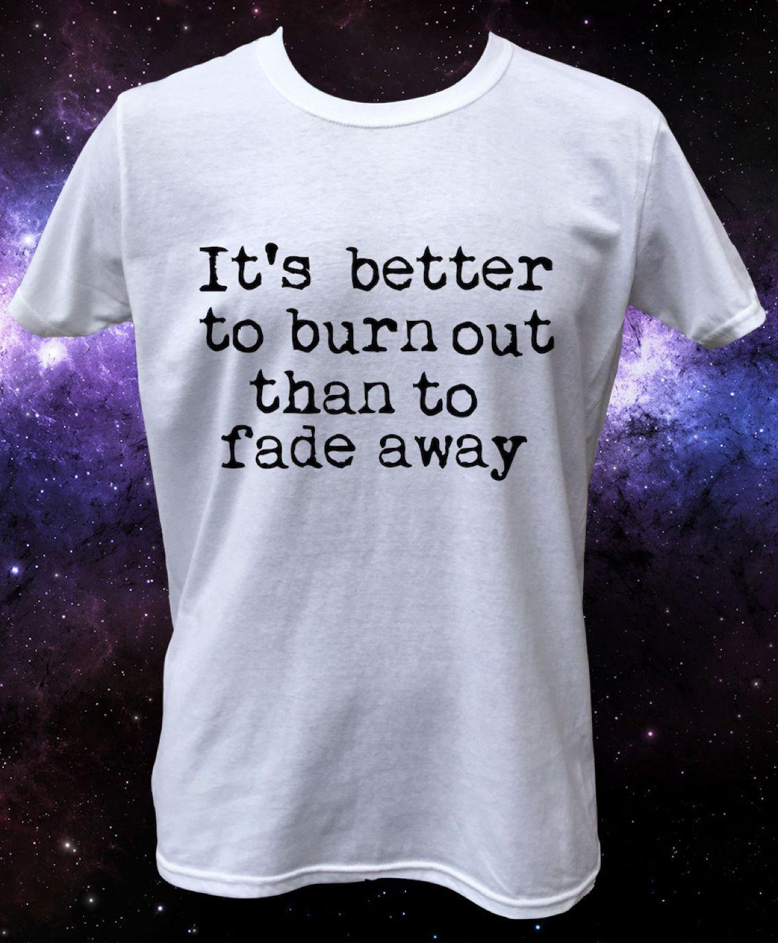 Black t shirt grunge - Click To Buy Kurt Cobain Quote Burn Out Grunge Rock T