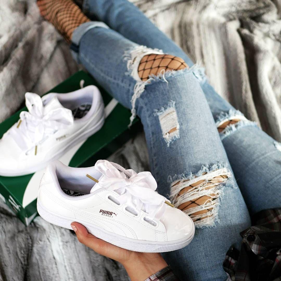 Puma 2017. Total blancos con trenzas gruesas.   Zapatillas