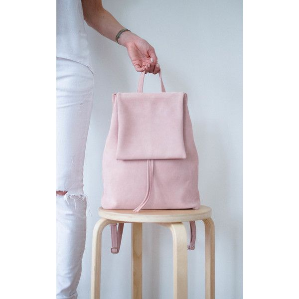 BOO Backpack Boo Suede Rose (1.567.840 IDR) ❤ liked on