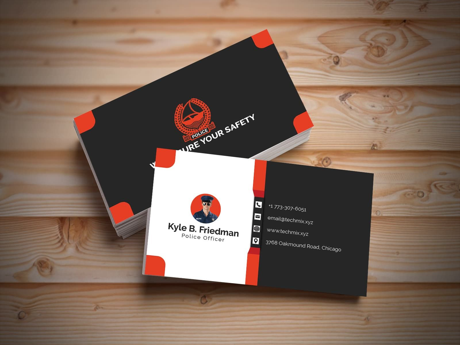 3d Police Business Card Design Template With Regard To Lawyer Business Cards Template Business Card Template Design Lawyer Business Card Business Card Template