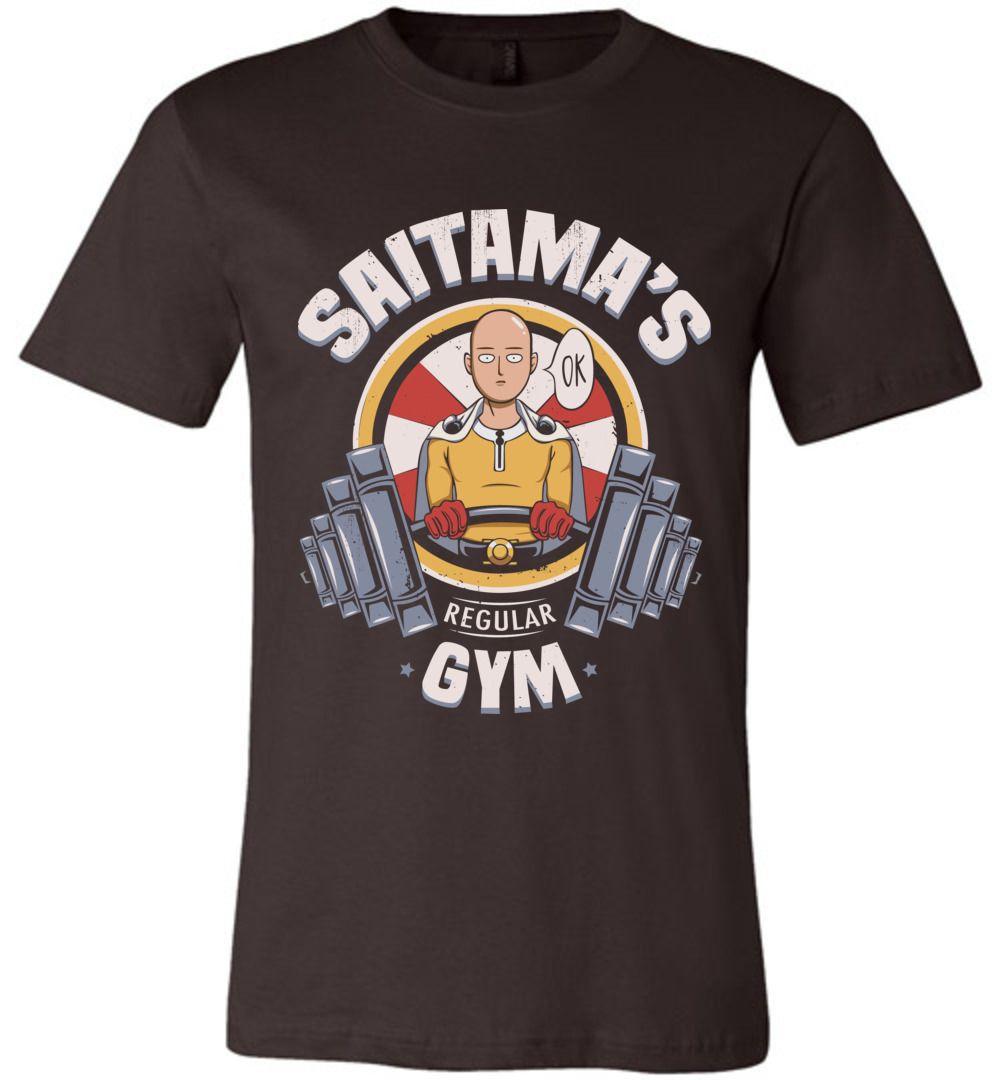 One Punch Man Saitama Ok Regular Gym Canvas Unisex T-Shirt ...
