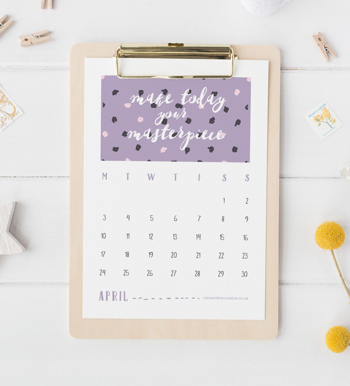 Stay Positive With This Quotes Calendar  Printable  Calendar