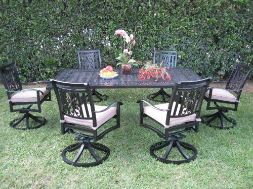 cbm heaven collection outdoor cast aluminum patio furniture dining