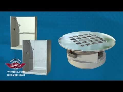 Wingtite Fix Leaking Shower Drain Youtube Shower Drain Shower Shower Pan