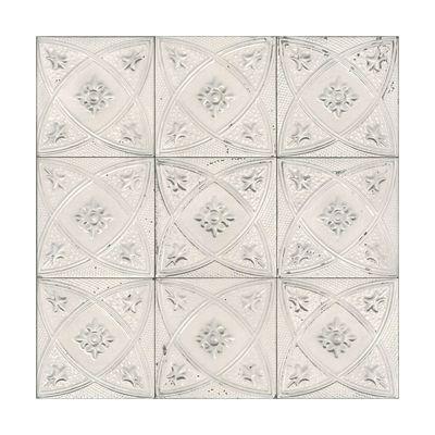 Walls Republic R4673 932508 Ms White Grey Ceramic Floral Tiles Wallpaper Floral Tiles Tile Wallpaper Wallpaper Design Pattern