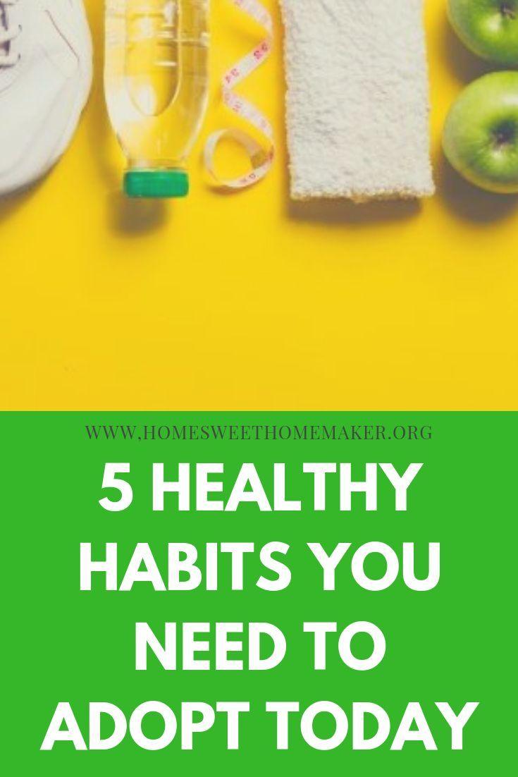 5 gesunde Gewohnheiten, die Sie annehmen sollten 5 gesunde Gewohnheiten, die Sie annehmen sollten