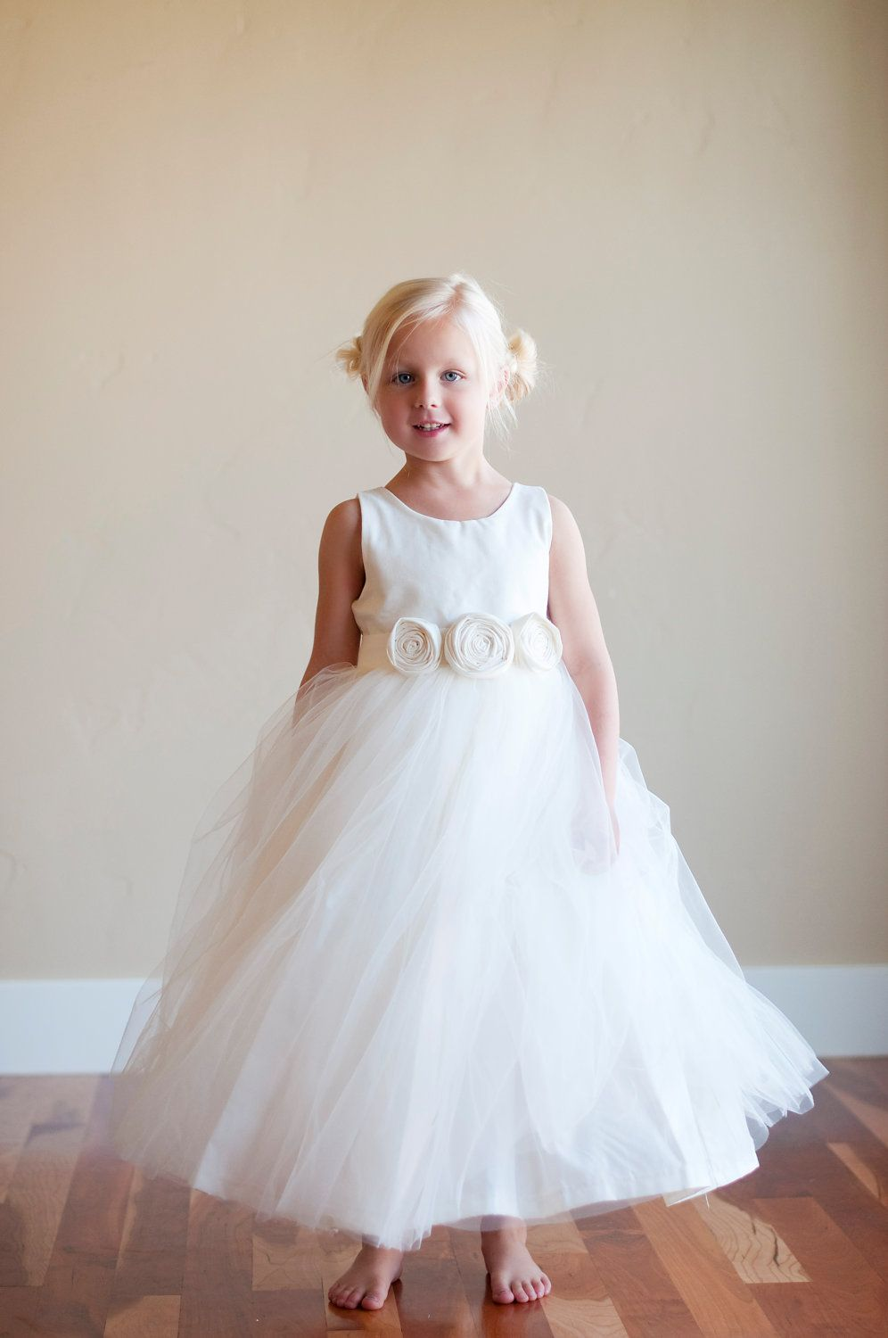 The Ivory Dress: White Flower Girl Dress,White Cotton Flower Girl ...