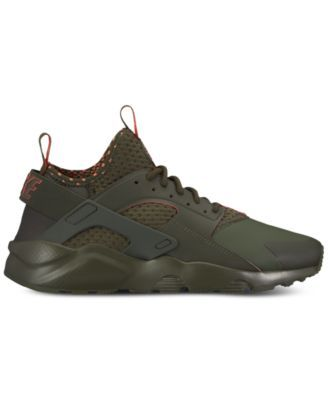 d9cd8697b7b6 Nike Men s Air Huarache Run Ultra Se Casual Sneakers from Finish Line -  Green 10.5