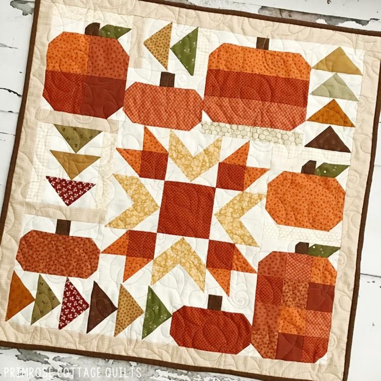 Pumpkin Party In 2020 Fall Quilt Patterns Fall Quilts Barn Quilt Patterns