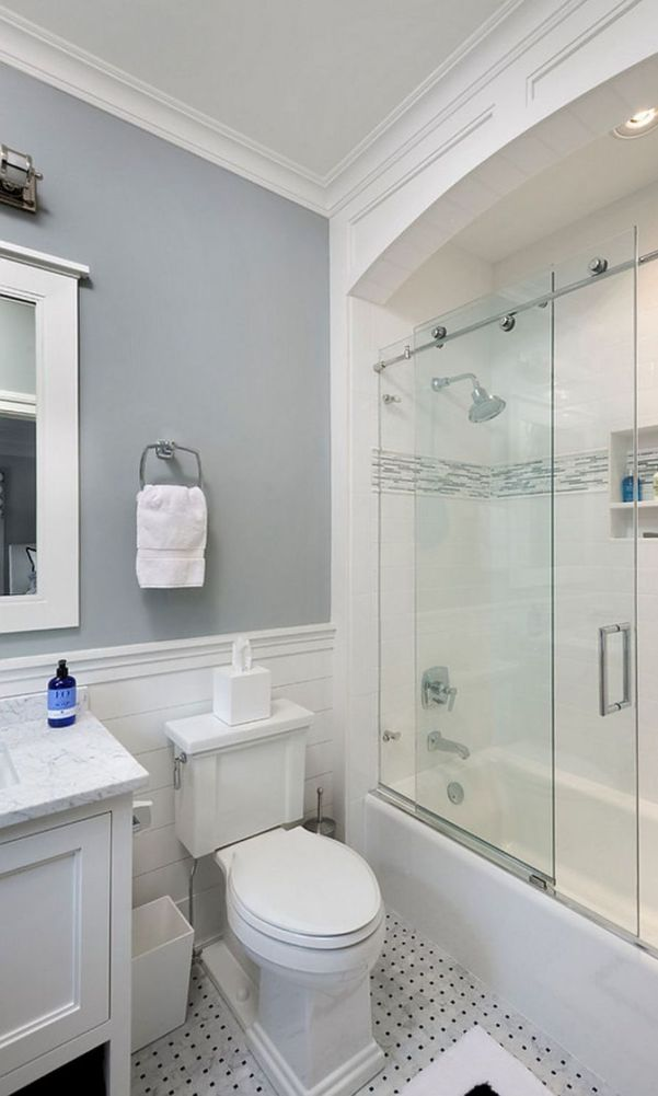 60 Beautiful Gray Bathroom Ideas With Stylish Color Combinations 2020 Page 20 Of 60 My Home Design B Stylish Bathroom Elegant Bathroom Tiny House Bathroom