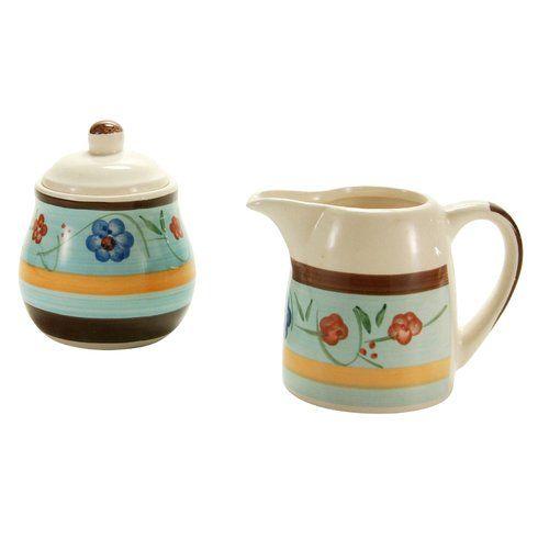 zuckerdose mit deckel und milchk nnchen piatti ceramica dipinti a mano zuckerdose. Black Bedroom Furniture Sets. Home Design Ideas
