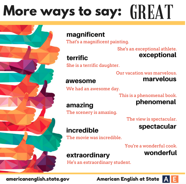 """Synonyms for """"Great"""""""