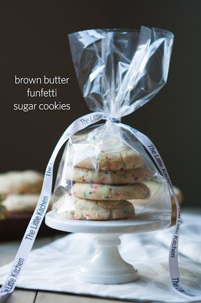 Brown Butter Funfetti Sugar Cookies from The Little Kitchen
