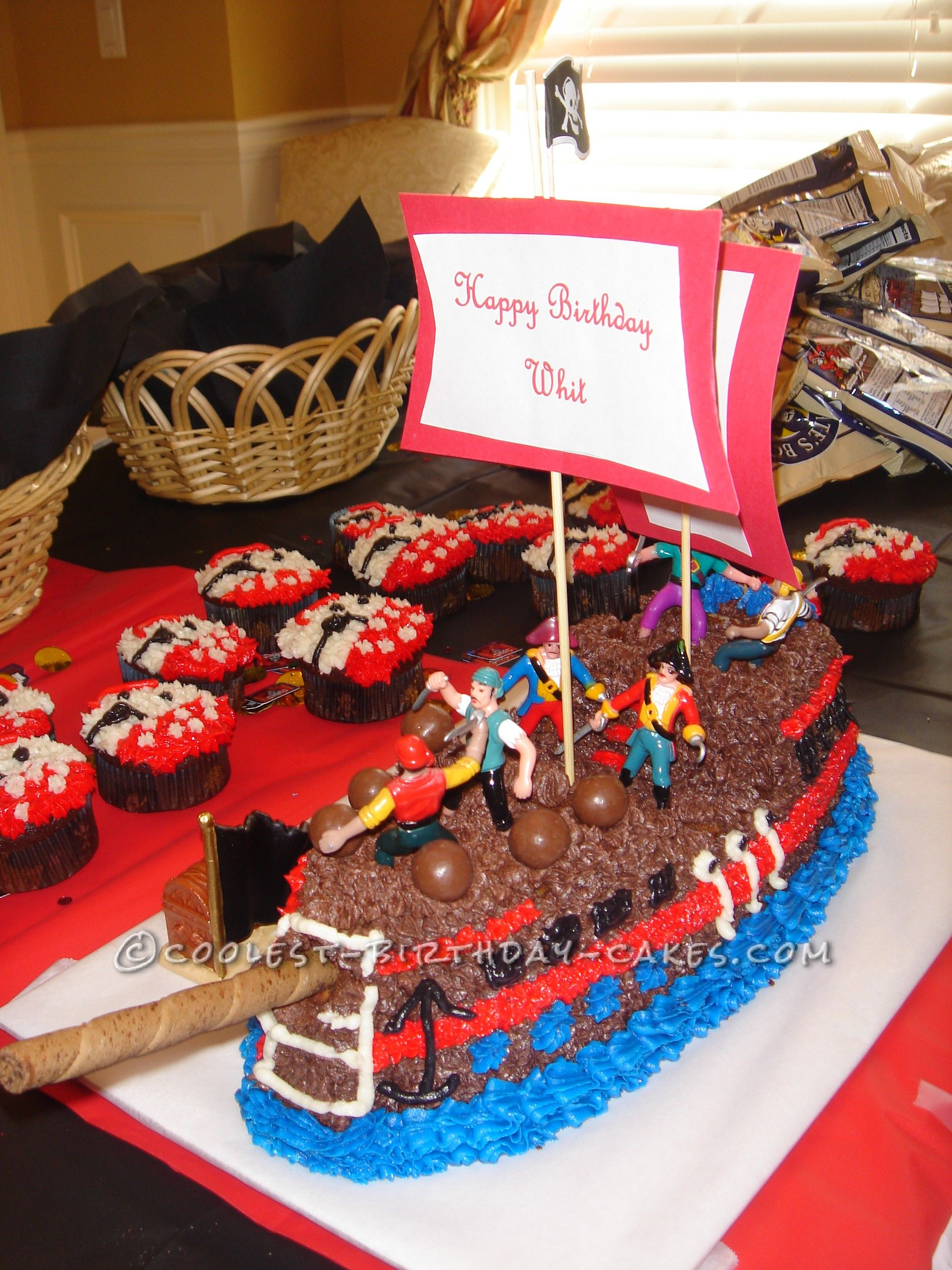 Cool Pirate Ship Birthday Cake For 4 Year Old This Website Is The Pinterest Of Ideas