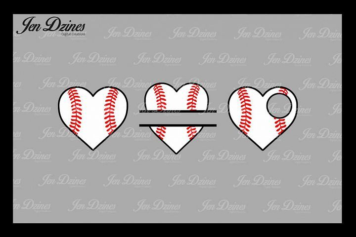 Download Baseball Heart Svg Dxf Eps Png From Designbundles Net