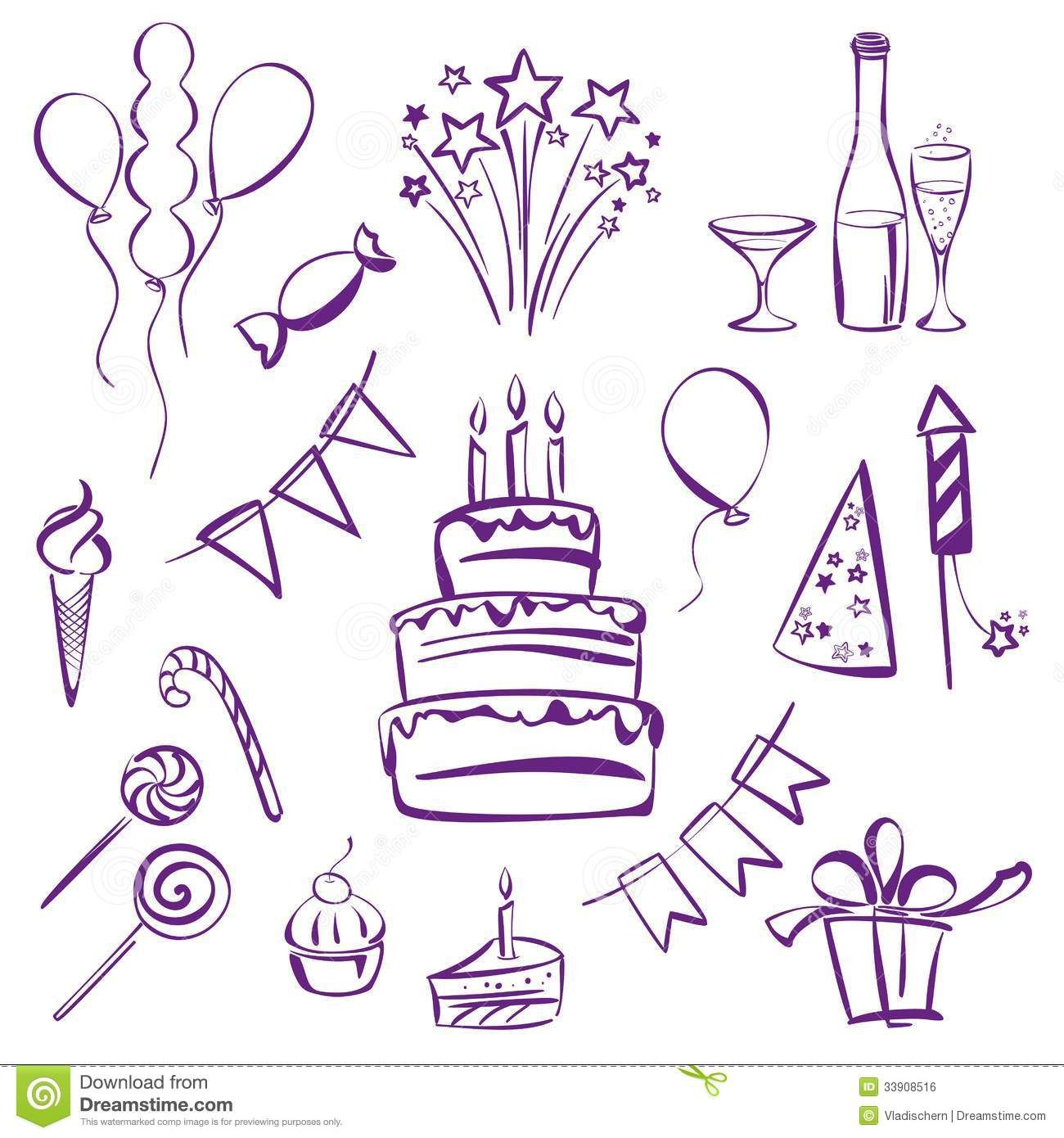 birthday party theme clipart vector to draw Google