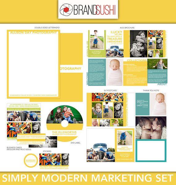 Simply Modern Marketing Set - Templates for Photographers - Brochure