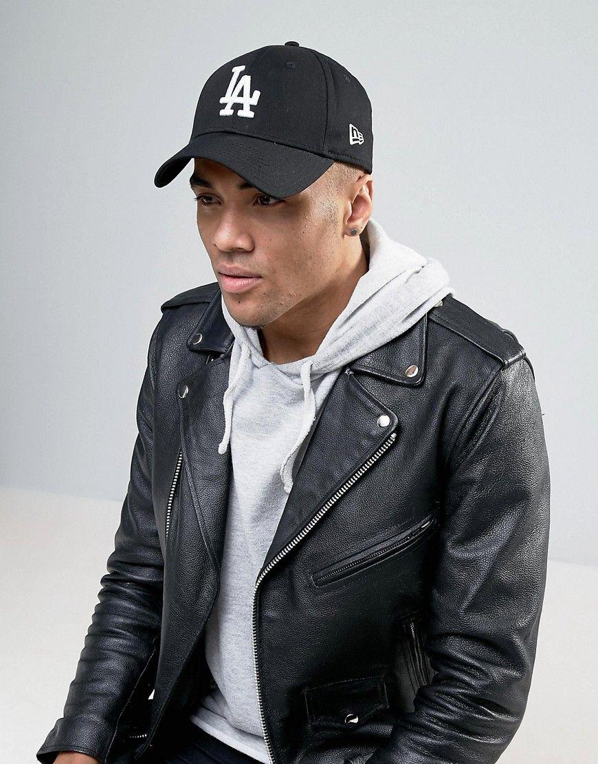 63d99505571 NEW ERA 9FORTY LA ADJUSTABLE CAP - BLACK.  newera