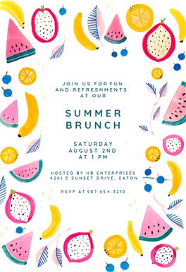 Summer Brunch Brunch Lunch Invitation Template Free Greetings Island Party Invite Template Pool Party Invitation Template Pool Party Invitations