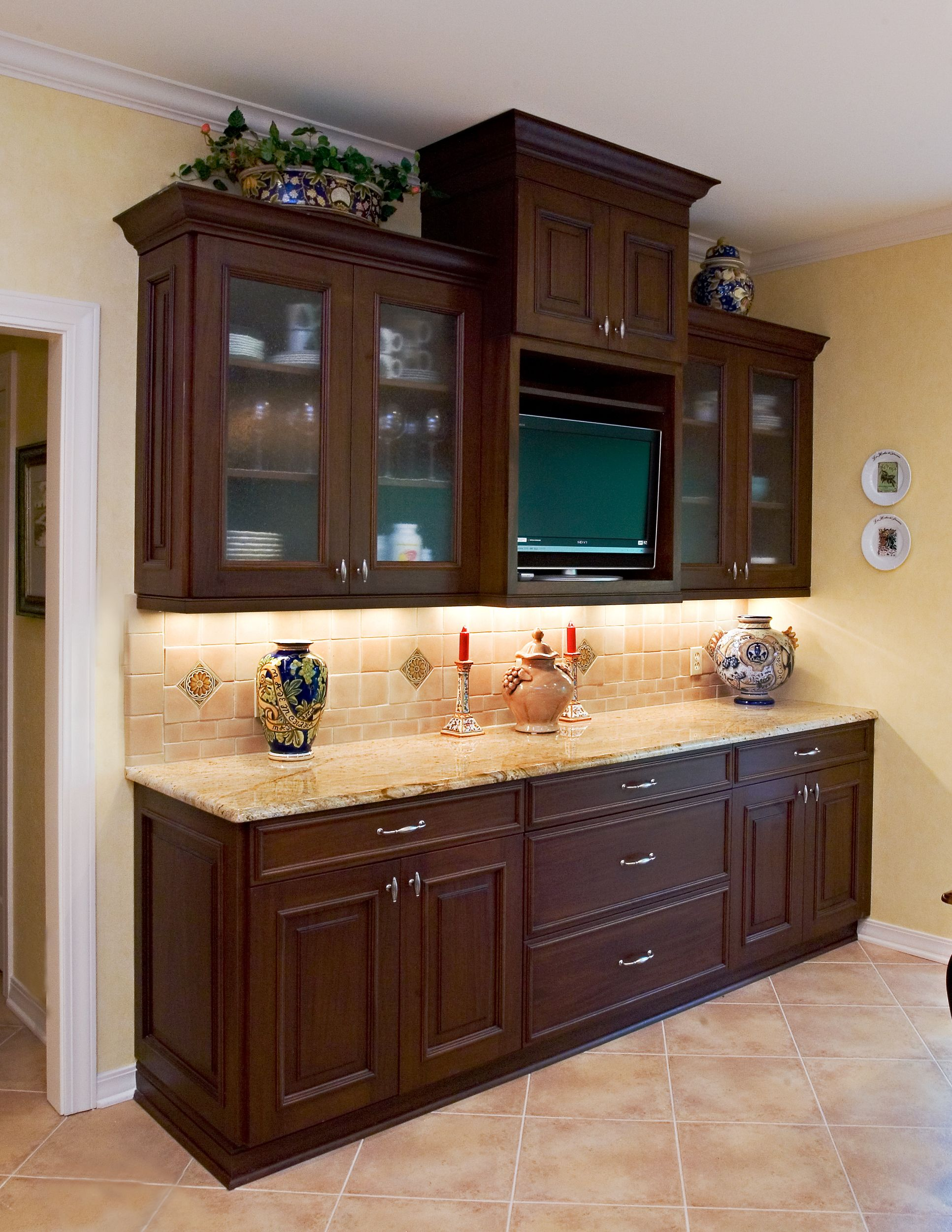 Dark Stained Bentwood Fine Custom Cabinetry Buffet By The Kitchen U0026 Bath  Cottage In Shreveport,