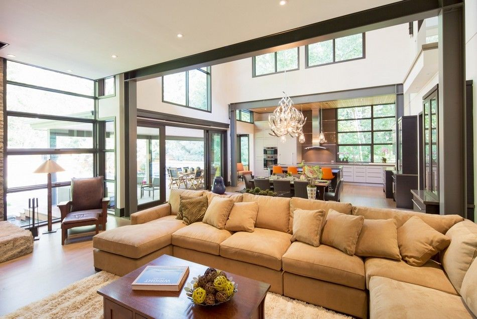Great Room Modern Home Aiming At Converting Traditionalists By David Small  Design