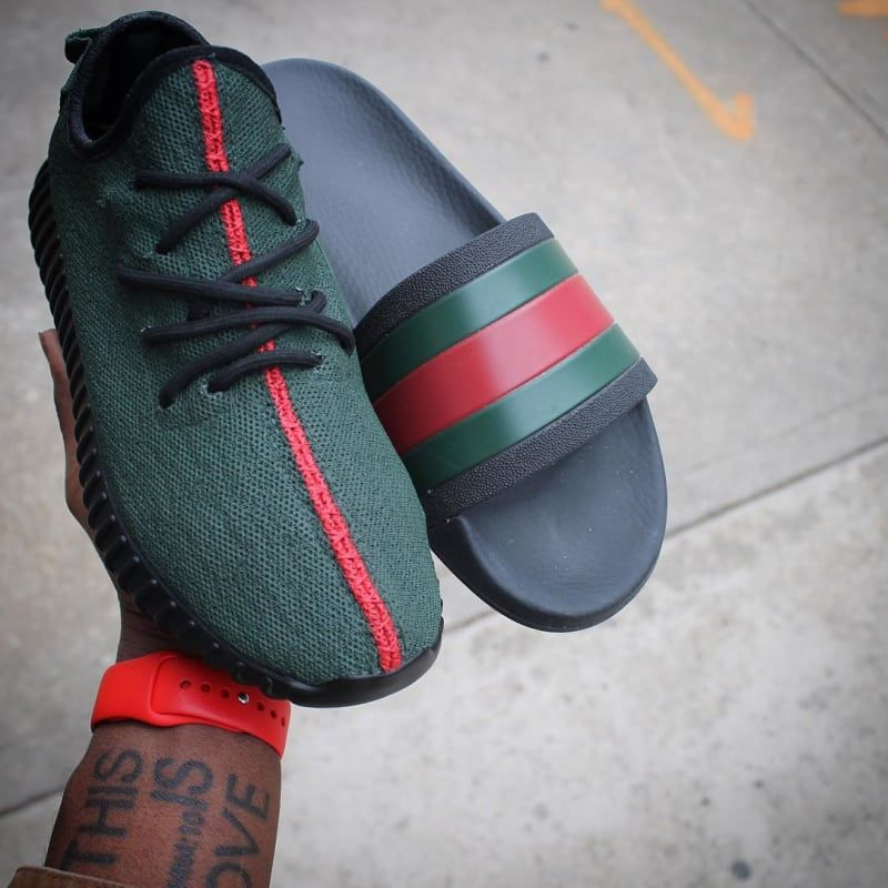 f45021eac Adidas just dropped adidas Yeezy 350 Boost Gucci Custom by Hippie Neal - adidas  Yeezy 350 Boost Customs ...