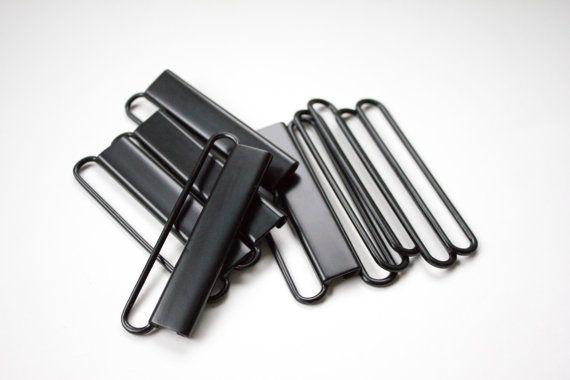 20 buckles  3 8cm black belt clasp  2 piece belt by CinchedApparel