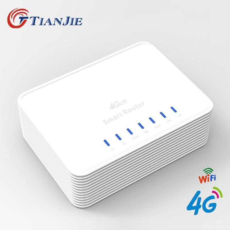 TIANJIE R104 Smart 3G 4G WIFI Router Home hotspot 4G RJ45 Ports WAN