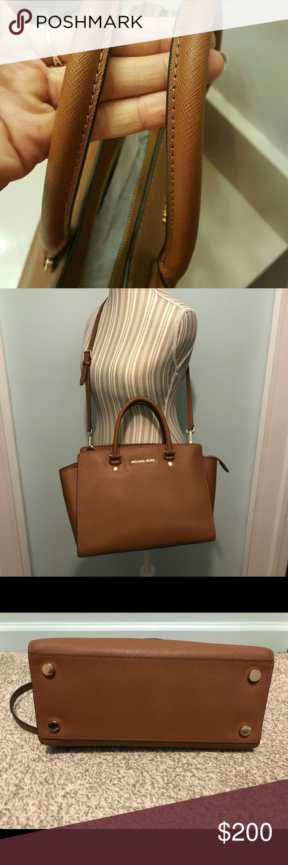 7b217a09c445 ... greece michael kors large selma bag great condition. color is called  luggage. dimensions are