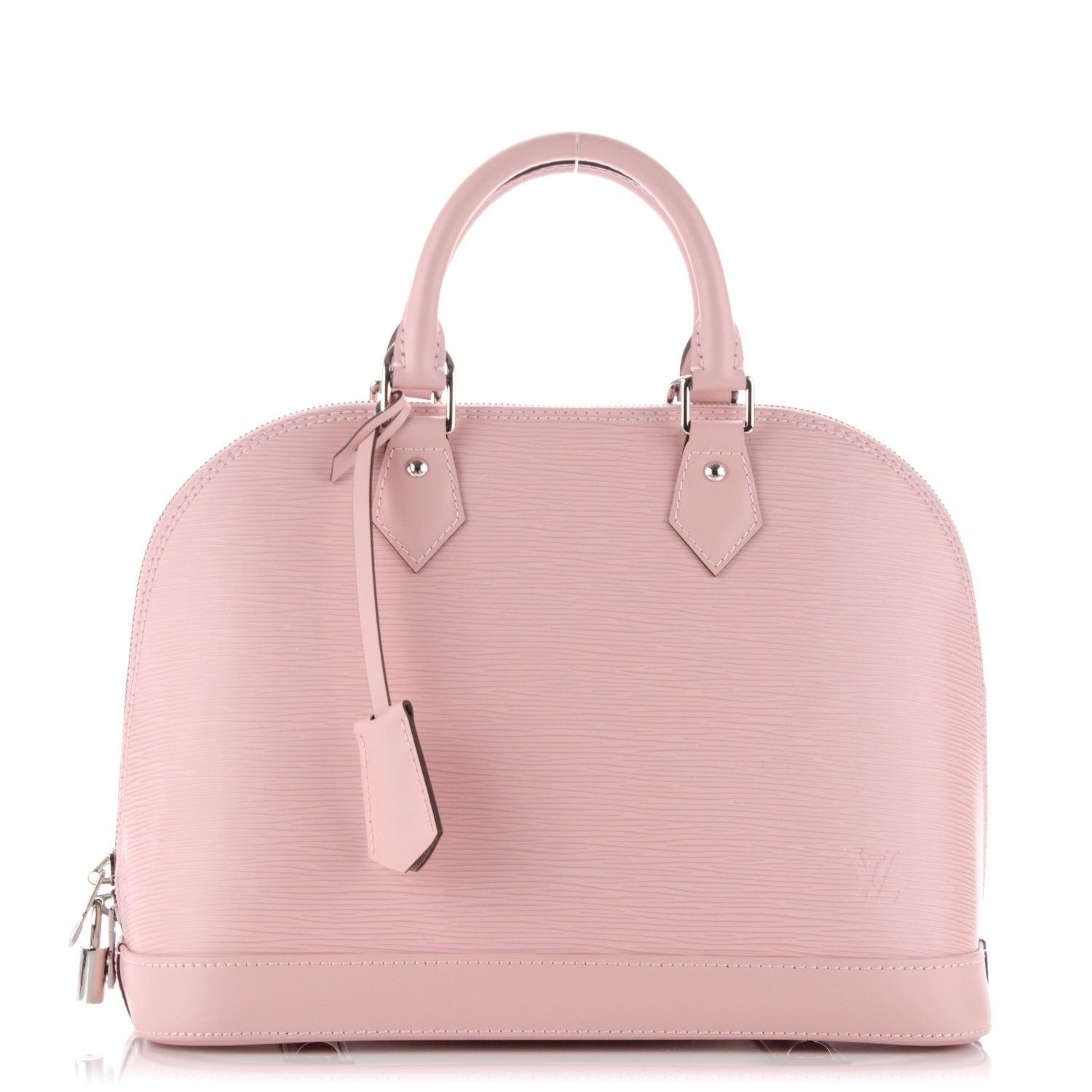 1af7d4bbddb8 This is an authentic LOUIS VUITTON Epi Alma PM in Rose Ballerine. This is a  stunning bowler style tote that is created out of Louis Vuitton signature  ...