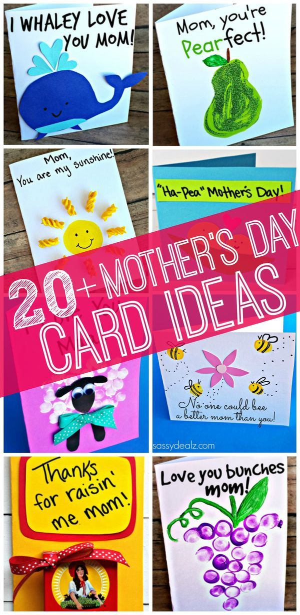Easy Mothers Day Cards Crafts For Kids To Make Pinterest Card